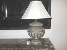 Fine Art Lamp Wood Carved Table Lamp with Stiffel Lamp Shade