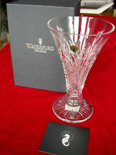 """Waterford Crystal Ambassador Vase 10"""" RARE Boxed with Certificate RRP £500. UK"""