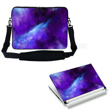 "17"" 17.3"" Neoprene Laptop Sleeve case Bag w Shoulder Strap & Matching Skin 3129"