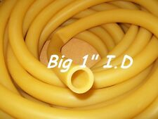 "24 CONTINUOUS FEET 1"" I.D x 1/8"" wall x 1-1/4"" O.D Latex Rubber Tubing Amber USA"