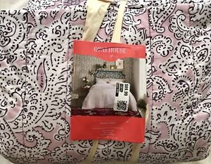 OPALHOUSE FULL/QUEEN PAISLEY QUILT 100% COTTON NEW UNFOLDED MSRP $70