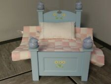 Htf Retired American Girl Angelina Ballerina Mouse Blue Bed with Bedding (*90)