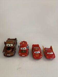 Disney Pixar Cars Lot 4 Toy Car Loose