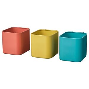 IKEA SKADIS STEEL CONTAINER STORAGE ORGANIZER, Set of 3, 904.564.63