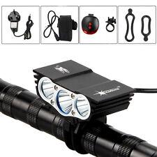 12000Lumen 3x XM-L U2 LED MTB Mountain Bike Bicycle Light HeadLamp Rechargeable
