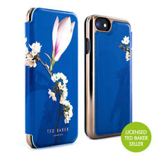 Ted Baker Luxury Floral Mirror Folio Case for iPhones - Navy Harmony Mineral iPhone 7 54083-ip7