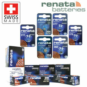 RENATA WATCH BATTERIES - SWISS MADE - 317 362 370 377 379 384 396 397 399 NEW