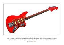 Jet Harris' Fender Vl Bass Limited Edition Fine Art Print A3 size