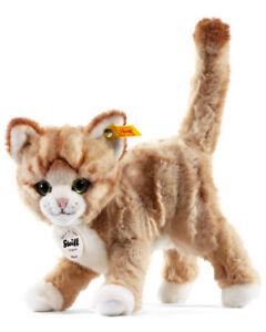 Steiff 'Mizzy' Kitten Cat - soft washable ginger tabby plush soft toy - 099342