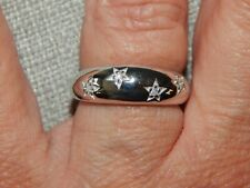 DIAMOND STAR DOME/BAND RING-SIZE O-0.050CTS-WITH PLATINUM