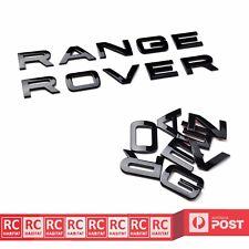 RANGE ROVER Gloss Black Bonnet Letters Sticker Rear Boot Badge Emblem Decals