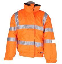 HUSKI Reversible Hi-Vis Bomber Jacket, Size S, Orange/Black