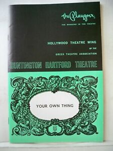 YOUR OWN THING Playbill LELAND PALMER / RUSTY THACKER Tour HOLLYWOOD CA 1968