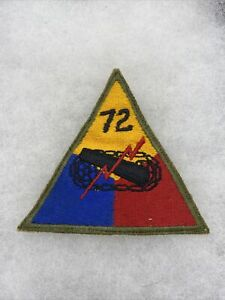 US 72nd Tank Battalion Armored Triangle Patch (I53