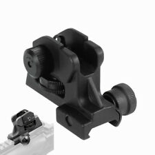 Adjustable Iron Rear Sight Set Fixed Match-Grade Post 20mm Rail Rifle Hunting