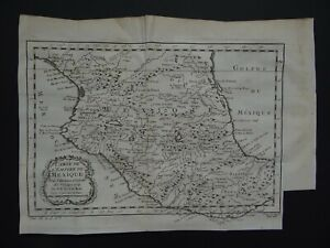 1754 BELLIN atlas map  MEXICO - Carte de L'Empire du Mexique