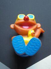 Mattel Sesame Street Ernie Pool Raft Bath Beach Rubber Duck Toy Plastic 2004
