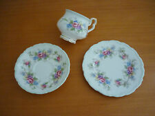 BEAUTIFUL VINTAGE ROYAL ALBERT COLLEEN TRIO SET-CUP, SAUCER & SIDE PLATE ENGLAND