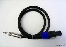 "ProCraft PSP14-6-QS 6 Foot 14 Gauge Speaker Cable  Speakon to 1/4"" USA Made"