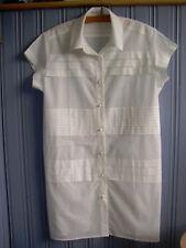 Hardly worn Size M(14-16) Biasa White ?cotton tunic/long blouse/short dress Bali