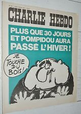 CHARLIE HEBDO N°168 04/02 1974 WOLINSKI CAVANNA CHORON REISER GEBE WILLEM CABU