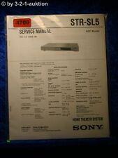 Sony Service Manual STR SL5 FM/AM Receiver  (#4708)
