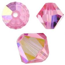 Genuine Swarovski Crystal Bicone. Rose AB Color. 3mm. Approx. 144 PCS. 5328