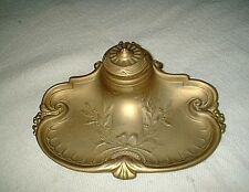 LOVELY  LADY'S  antique BRASS  INKWELL