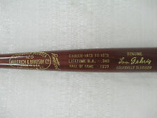 Lou Gehrig New York Yankees Genuine Louisville Slugger Stat Baseball Bat