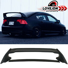 Fits 06-11 Honda Civic 4 Door Sedan Mugen Rear Trunk Spoiler Wing Matte Black