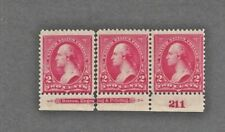 267 Three Mint NH stamps a pair and single originally inscription strip P# 211