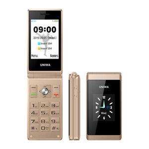 Unlocked Old Man Flip Mobile Phone X28 Dual Sim GSM Senior Big Push-Button Phone