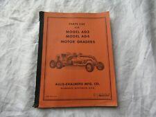 Allis-Chalmers AD3 AD4 motor grader parts catalog manual