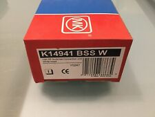 MK EDGE K14941 BSS W 13A DP SWITCHED SPUR BRUSHED S/ STEEL WHITE INSERT