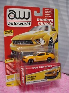 Auto World 2012 FORD MUSTANG BOSS 302 No. 3∞yellow blaze∞modern muscle∞le 1/4000