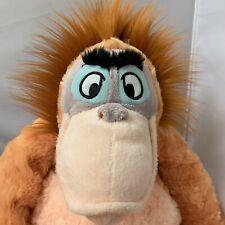 "Disney Store Jungle Book King Louie Monkey Plush Ape Orangutan Stuffed Doll 16"""