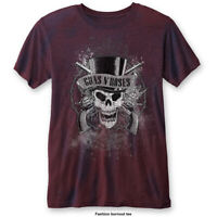 GUNS N ROSES Faded Skull Burn Out Mens T Shirt Unisex Tee Official Merch