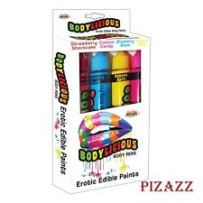 PLay Pens, Bodylicious Erotic Edible Body Pens, 4 Assorted Flavors