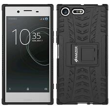 AMZER Black Dual Layer Hybrid Warrior Shockproof Case For Sony Xperia XZ Premium