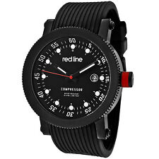 Red Line RL-18000-01-BB Men's Compressor Date Display Black Silicone Watch