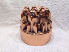 Antique Victoran Era Copper Jelly Cake Mold Mould Geometeric/Gothic Design #103