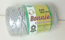 Light Gray Macrame Cord 100 Yards 6 mm New Sealed Made in Usa Grey Shadow