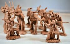 "TSSD13 ""Plains Indian Warriors (Brown)"" 54mm Plastic Toy Soldiers"