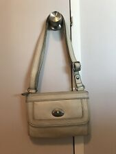 Fossil Marlow Top Zip Bone Off White Beige Leather Crossbody Handbag ZB5559105