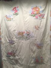 Vintage Baby Blanket Nursery Rhyme Jack Jill Bo Peep Boy Blue Ducks Sheep Cutter