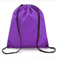Travel Drawstring Backpack Cinch Rucksack Sport PE Schoolbag Waterproof Tote Bag