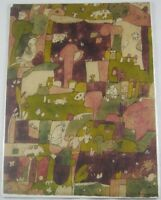 Vintage Original 1964 Mid Century Modern Lithograph The Farm by S. Kasher Listed