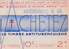 F40 Carnet complet de 20 timbres antituberculeux 1935 pub NESTLE vignette FFM,Sp