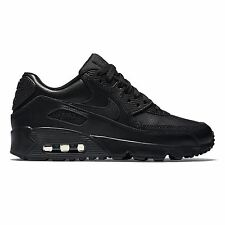 brand new 84ad3 3f8aa Nike Air Max 90 Leather GS Shoes Black Trainers Skyline Command 97 BW  833412-001