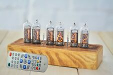 Nixie Tube Clock, Russian 6 NOS IN-14 Replaceable Tubes, Alarm, Remote Control